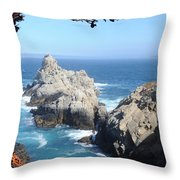 point lobos number four Throw Pillow by Catherine Lau