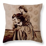 Portrait Of Jane Morris Throw Pillow by John Parsons