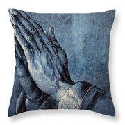 Praying Hands Throw Pillow by Albrecht Durer
