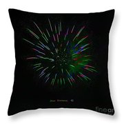 Psychedelic Fireworks Throw Pillow by John Stephens