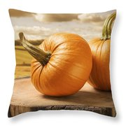 Pumpkins Throw Pillow by Amanda And Christopher Elwell