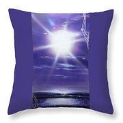 'purple Aura' Throw Pillow by Christian Chapman Art