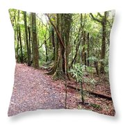 Rain Forest Throw Pillow by Les Cunliffe