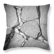Rock wall Throw Pillow by Les Cunliffe