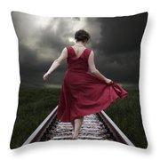Running Throw Pillow by Joana Kruse