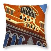Ryman Auditorium Throw Pillow by Brian Jannsen
