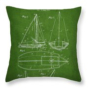 Sailboat Patent Drawing From 1948 Throw Pillow by Aged Pixel