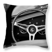 Shelby Ac Cobra Steering Wheel Throw Pillow by Jill Reger