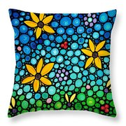 Spring Maidens Throw Pillow by Sharon Cummings