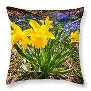 Spring Wildflowers Throw Pillow by Elena Elisseeva