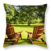 Summer Relaxing Throw Pillow by Elena Elisseeva