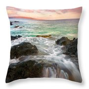 Sunrise Surge Throw Pillow by Mike  Dawson