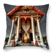 Thai Temple Throw Pillow by Adrian Evans