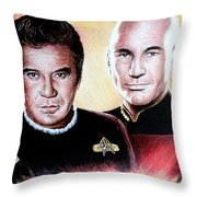 The Captains   Throw Pillow by Andrew Read