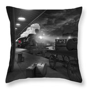 The Station Throw Pillow by Mike McGlothlen