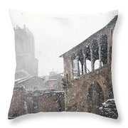 Trajan's Market Throw Pillow by Fabrizio Troiani