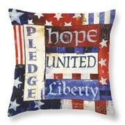 Usa Pride 1 Throw Pillow by Debbie DeWitt