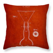 Vintage Bottle Neck Patent From 1891 Throw Pillow by Aged Pixel