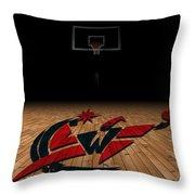 Washington Wizards Throw Pillow by Joe Hamilton