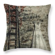 Wedding Dress Throw Pillow by Joana Kruse
