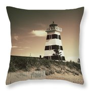 West Point's Light Throw Pillow by Meg Lee Photography