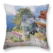 Westport by the Sea Throw Pillow by Joyce Hicks