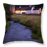 White Barn Throw Pillow by Brian Jannsen