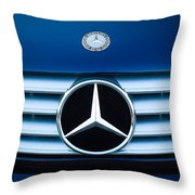 2003 Cl Mercedes Hood Ornament And Emblem Throw Pillow by Jill Reger