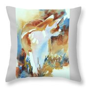 2004 Cat On The Prowl  I  Throw Pillow by Kathy Braud
