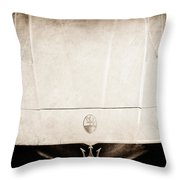2005 Maserati Mc12 Hood Ornament Throw Pillow by Jill Reger