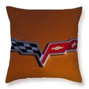 2007 Chevrolet Corvette Indy Pace Car Emblem Throw Pillow by Jill Reger