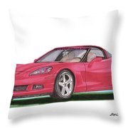 2007 Corvette C 6 Throw Pillow by Jack Pumphrey