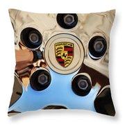 2010 Porsche Panamera Turbo Wheel Throw Pillow by Jill Reger