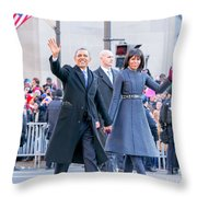 2013 Inaugural Parade Throw Pillow by Ava Reaves