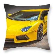 2013 Lamborghini Adventador Lp 700 4 Throw Pillow by Rich Franco