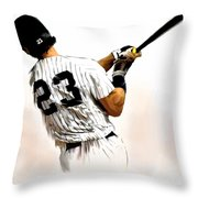 23   Don Mattingly  Throw Pillow by Iconic Images Art Gallery David Pucciarelli