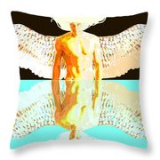 24x36 Reflective Angel Bb Throw Pillow by Dia T