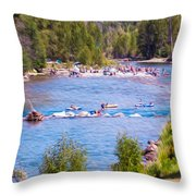 25th Annual Winthrop Rhythm And Blues Festival Throw Pillow by Omaste Witkowski