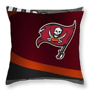 Tampa Bay Buccaneers Throw Pillow by Joe Hamilton
