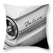 1963 Ford Falcon Futura Convertible Taillight Emblem Throw Pillow by Jill Reger