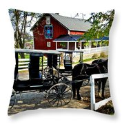 Amish Country Throw Pillow by Frozen in Time Fine Art Photography