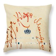 Archbishop Makarios  Autograph Throw Pillow by Augusta Stylianou