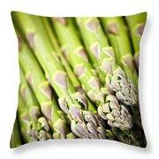Asparagus Throw Pillow by Elena Elisseeva