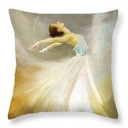 Ballerina  Throw Pillow by Corporate Art Task Force