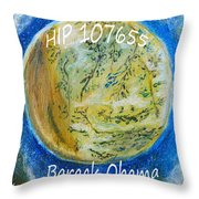 Barack Obama Star Throw Pillow by Augusta Stylianou