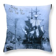 Blame It On The Rum Schooner Throw Pillow by John Stephens