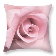 Blushing Pink Rose Flower Throw Pillow by Jennie Marie Schell
