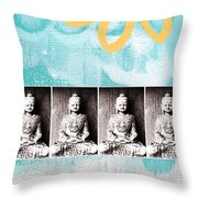 Buddha Throw Pillow by Linda Woods