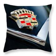 Cadillac Emblem Throw Pillow by Jill Reger