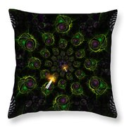 Cosmic Embryos Throw Pillow by Shawn Dall